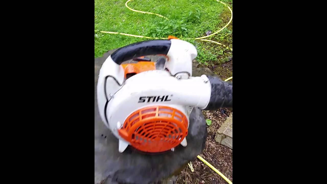Easy pull rope conduit leaf blower electrical cable installation ...