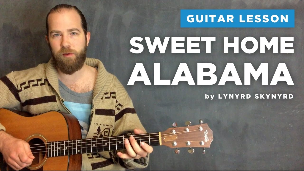 Includes easy guitar tab for guitar or strum or voice in g major. Guitar Lesson For Sweet Home Alabama By Lynyrd Skynyrd Acoustic Youtube
