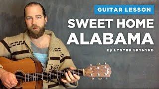 Guitar lesson for Sweet Home Alabama by Lynyrd Skynyrd (acoustic)