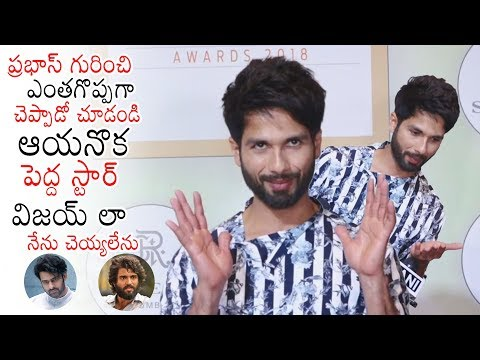 Shahid Kapoor About Greatness Of Prabhas and Arjun Reddy Movie | Kabir Singh | Daily Culture