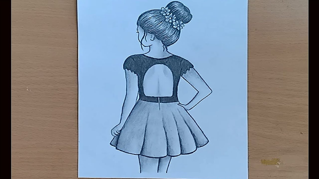 How To Draw A Girl With A Messy Bun Hair Easy Way To Draw