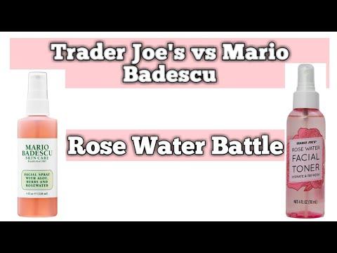 Trader Joe S Rose Water Toner Vs Mario Badescu Rose Water Facial Spray
