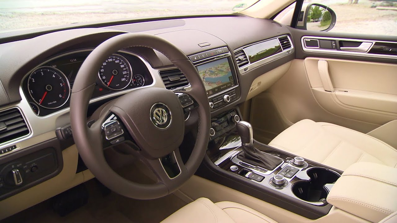 medium resolution of volkswagen touareg interior 2014 facelift