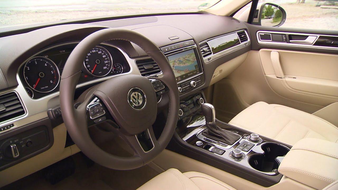 volkswagen touareg interior 2014 facelift  [ 1280 x 720 Pixel ]
