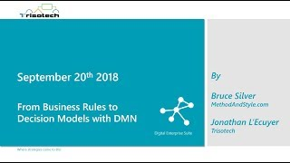 From Business Rules to Decision Models with DMN