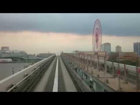 Tokyo Yurikamome train from Toyosu to Shimbashi 14.6.2016 day time