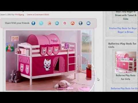 Bunk Beds For Kids Angel Cat Sugar By Hello Kitty Youtube