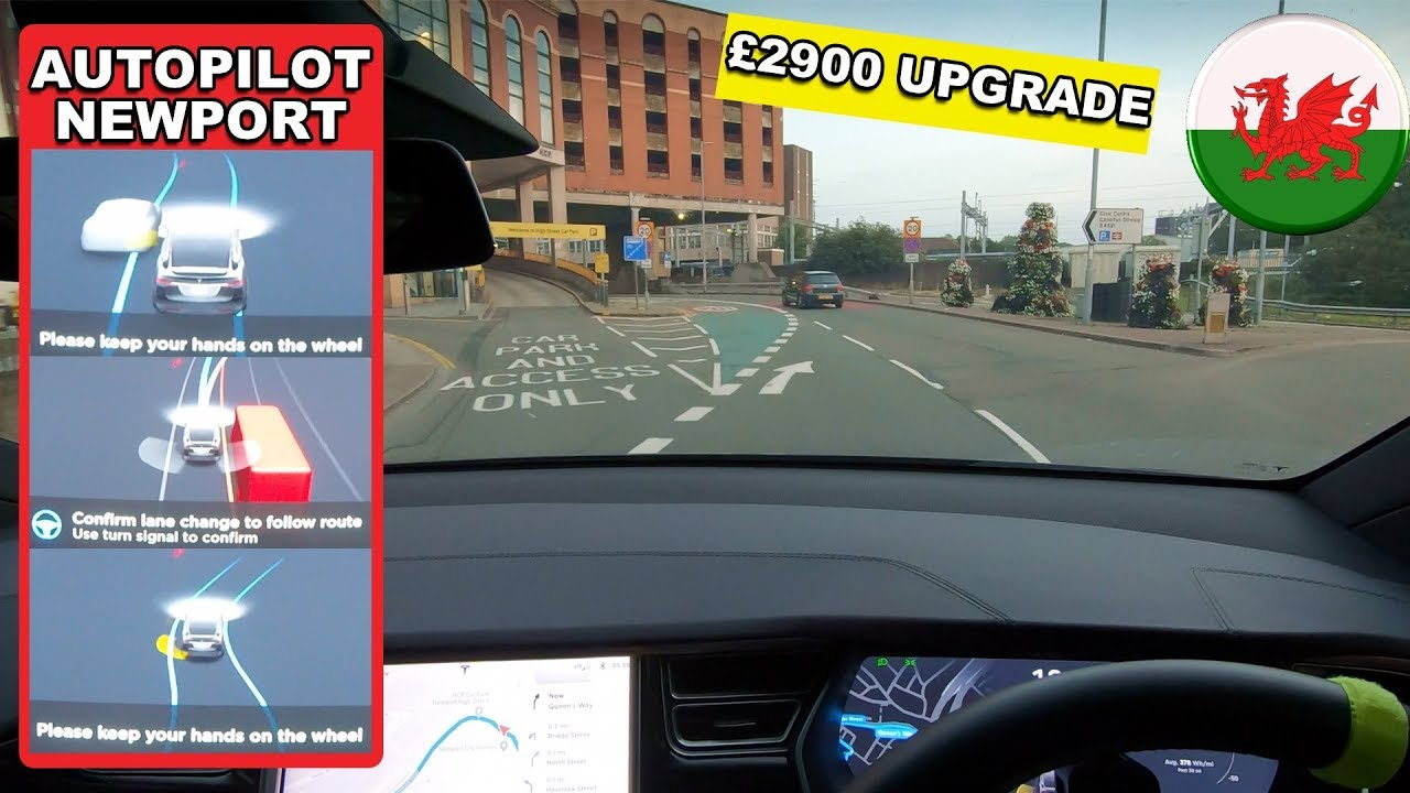 Upgraded Full Self Drive, Does It Do Anything Yet? - Tesla Autopilot in a  UK City #12 Newport