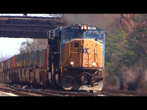 Some Assorted CSX Freight Trains In St Denis, Maryland