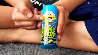 Toxic waste slime licker sour rolling liquid candy,