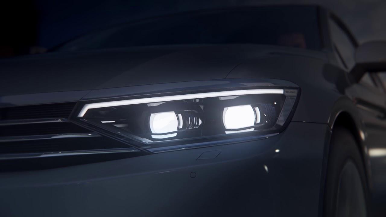 IQ.Light/LED Matrix Scheinwerfer im VW Passat: Nachtfahrt, Test, Vergleich A4 & C-Klasse