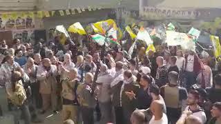 حشود جماهيرية في مخيم عين الحلوة تواكب احياء ذكرى الشهيد ابوعمار في غزة