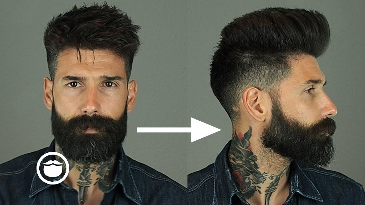 How To Style A Natural Pompadour With Skin Fade Carlos
