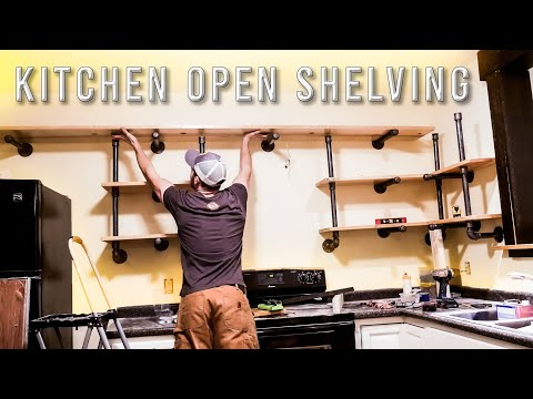 Industrial Pipe Open Shelving DIY! **Black Iron Pipe**