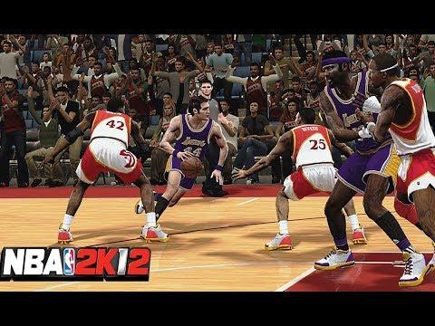 NBA 2K12 : 1971-72 LA Lakers Vs. 1989-90 Atlanta Hawks | 4K 60fps | PC Gameplay