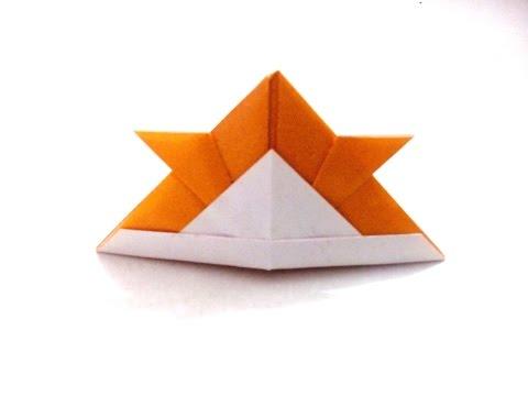 How to make an origami paper samurai helmet   Origami / Paper Folding Craft, Videos and Tutorials.