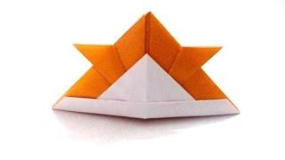 How to make an origami paper samurai helmet | Origami / Paper Folding Craft, Videos and Tutorials.