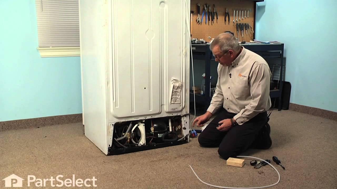 refrigerator repair replacing the plastic tubing ge part wr17x2891 youtube [ 1280 x 720 Pixel ]