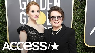 Golden Globes 2018: Emma Stone & Billie Jean King On The Impact Of The Time's Up Movement | Access
