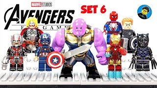 Lego Avengers Endgame Set 6 Unofficial Minifigures Captain America Iron Man MK 85 Thanos Spider-Man