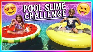 SWIMMING POOL SLIME CHALLENGE | We Are The Davises