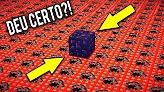 100,000 TNT VS 1 BLOCO DE OBSIDIAN! (Quebrou!?) | Minecraft