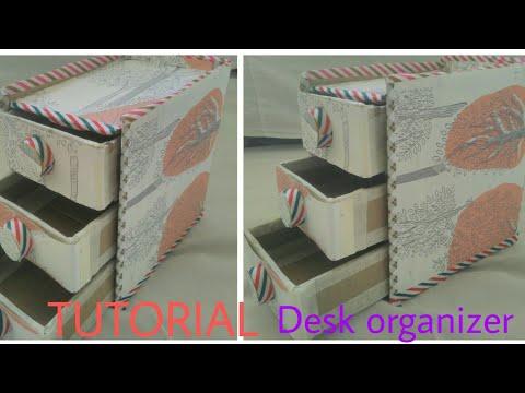 How to make DESK ORGANIZER.                    ||TUTORIAL||