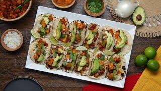 Vegan Butternut Squash Al Pastor Tacos •Tasty