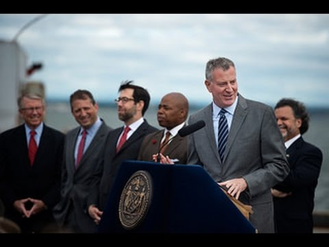 Mayor de Blasio Announces Major Milestones to Activate New Maritime Shipping Hub