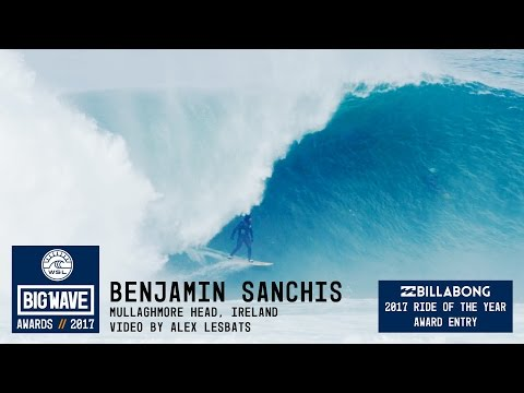 Benjamin Sanchis at Mullaghmore - 2017 Billabong Ride of the Year Entry - WSL Big Wave Awards