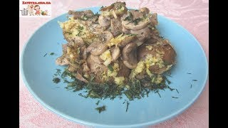 Картошка с грибами и чесноком в духовке постный рецепт