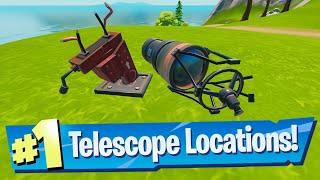 Location Of Broken Telescopes In Fortnite Repair Damaged Telescopes All Locations Fortnite Foreshadowing Quest Youtube