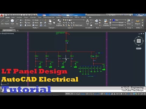 LT Panel Design with AutoCAD Electrical | Single Line Diagram for a LT Panel | A to Z Engineering
