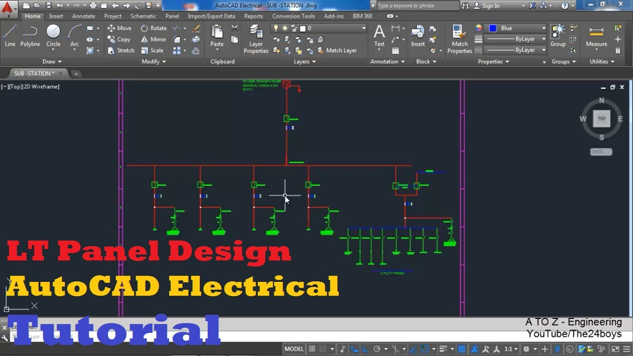 LT Panel Design with AutoCAD Electrical | Single Line Diagram for a LT Panel | A to Z