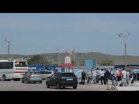 Работа Керченской переправы после открытия моста