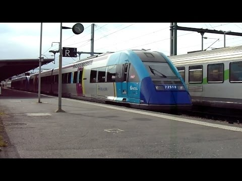 Trains en Gare de Caen - FRET - TER - INTERCITE