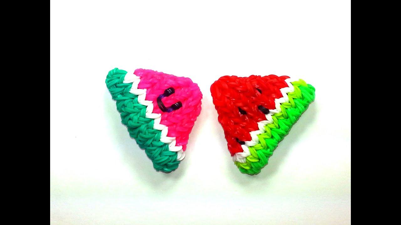 ... Watermelon Slice Tutorial by feelinspiffy (Rainbow Loom) - YouTube
