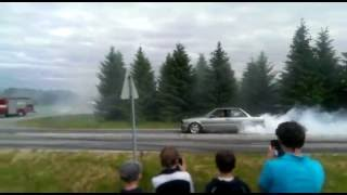 BMW e30 turbo burnout Korsnäs 2015