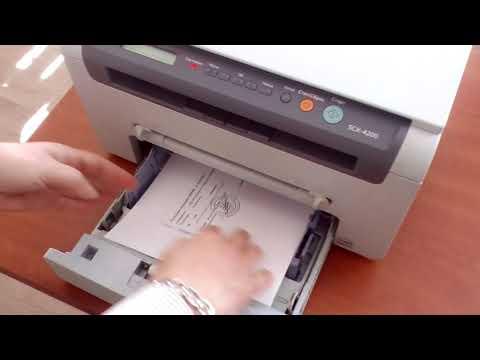 Работа и качество печати принтера Samsung Scx 4200