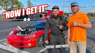 homepage tile video photo for Diesel Brothers Learn About Spark Plugs and Drive the Fastest Vehicle They've Ever Driven!!!