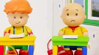 📝 Caillou and the School Exam 📝 | Funny Animated Kids show | Caillou Stop Motion