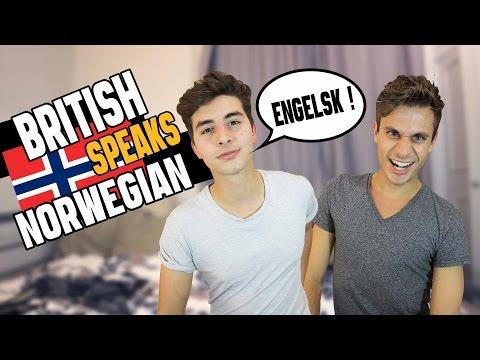 British Boy Speaks Norwegian FT Weird Norwegian