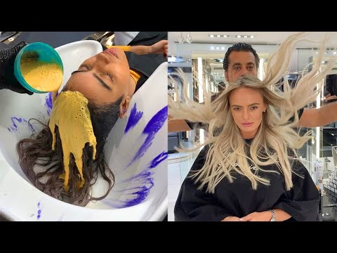 Beautiful Hair Color Transformations By Mounir 😍 Professional Hairstyles Tutorials thumbnail