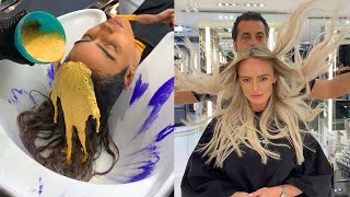 Beautiful Hair Color Transformations By Mounir 😍 Professional Hairstyles Tutorials