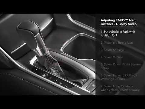 How to Use the Collision Mitigation Braking SystemTM (CMBSTM) on the 2018 Honda Accord