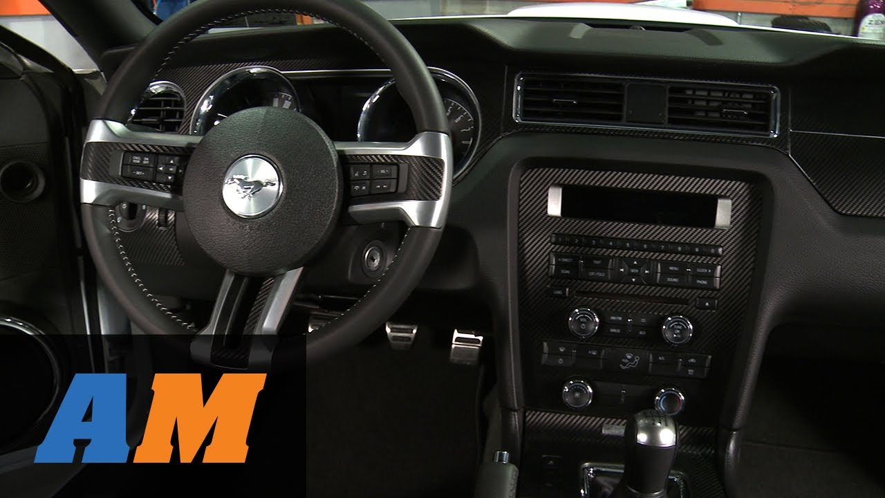 american muscle graphics mustang red carbon fiber dash kit 387405 10 14 all  [ 1280 x 720 Pixel ]