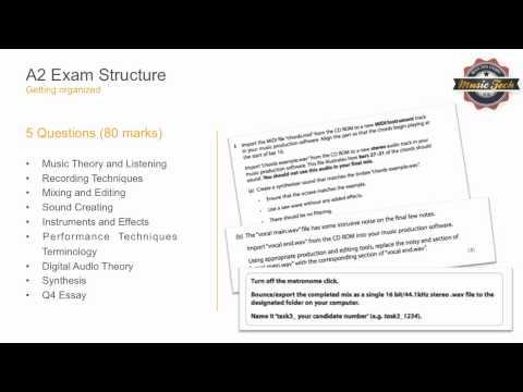 A2 Music Tech Exam Preparation Unit 4