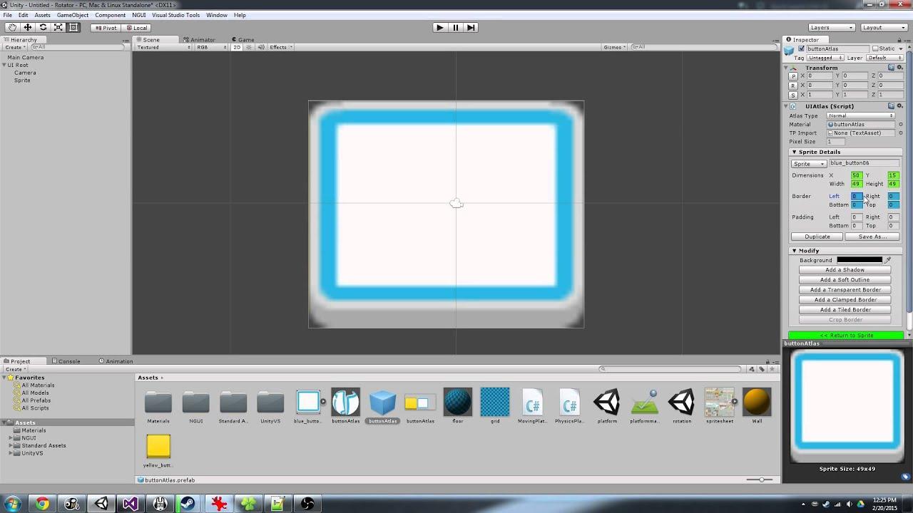 Creating Sliced Sprites in NGUI