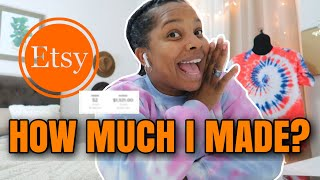 ENTREPRENEUR LIFE #2 : 1 Month Selling T-Shirts On Etsy | How Much I Made | Selling On Etsy Worth It