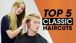 Top 5 Classic Mens Hair Tutorials - Haircut & Hairstyle